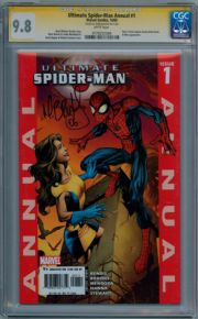 Ultimate Spider-man Annual #1 CGC 9.8 Signature Series Signed Mark Brooks Marvel comic book